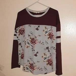 Rewind floral long sleeved blouse